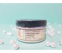 "Натуральный увлажняющий крем для лица ""Лесной сандал "", крем с маслом ШИ / Кхади/ Woody Sandal Cream whith Sheabuteer / 50 гр"