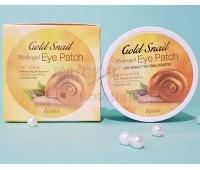 Гидрогелевые патчи с золотом и улиточным муцином /  Esfolio Gold Snail Hydrogel Eye Patch / 60 штук