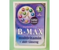 Витамины группы В + женьшень+витамин С / B-Max multivitamin+activ Ginseng/ 40 таб