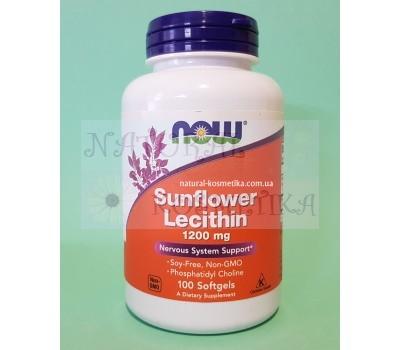 Лецитин из подсолнуха, США (1200 мг) / Now Foods, Sunflower Lecithin / 100 кап