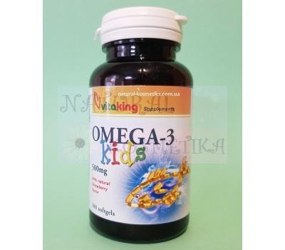 Омега-3 для деток (500 мг) / VitaKing / Венгрия / 100 кап