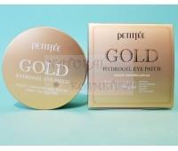 Золотые патчи с комплексом особых ингредиентов / PETITFEE Gold Hydrogel Eye Patch +5 Golden Complex / 60 шт