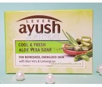 Мыло Аюш с Алоэ вера / Lever Ayush Aloe Vera Soap / 100 г